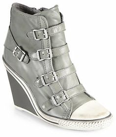 Ash Thelma Leather Wedge Sneakers on shopstyle.com