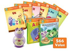 LeapFrog LeapReader Junior/ Tag™ Junior Get Ready for Preschool Bundle with Violet- Get ready to read while exploring letters, animals, sharing and more with Violet!