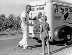 """Swell Time Ice Cream. Back in 1950 when """"street pushers"""" sold ice cream, not drugs. In Fresno, California."""