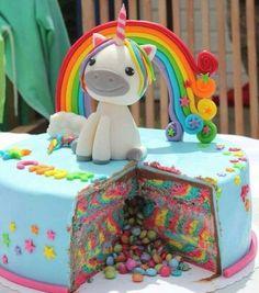 ▷ Ideen für einzigartige Einhorn Kuchen und Torten - Todo Lo Que Necesitas Saber Para La Fiesta Unicorn Foods, Unicorn Cakes, Toy Unicorn, Unicorn Cake Topper, Unicorn Head, Unicorn Birthday Parties, Cake Birthday, Birthday Ideas, Rainbow Unicorn