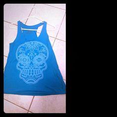 Skull Tank from Pitaya Blue super soft skull tank from Pitaya Bear Dance Tops Tank Tops