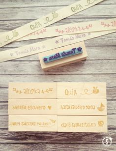 hand carver rubber stamp