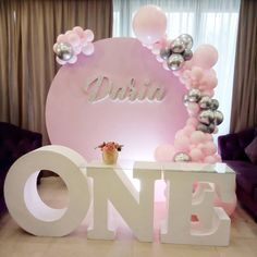 Toddler Birthday Pictures, 1st Birthday Party For Girls, First Birthday Themes, First Birthdays, Happy Birthday, Balloon Decorations, Birthday Decorations, Naming Ceremony, Party Accessories