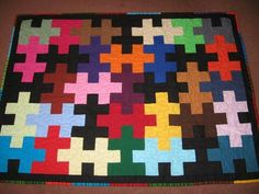 Jig Saw Puzzle.  This would also be cute to use the pattern/design for plastic canvas. :)