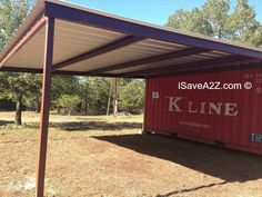 Shipping Container Carport and Storage Idea - recycling containers