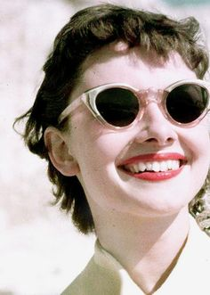 Audrey with sunglasses