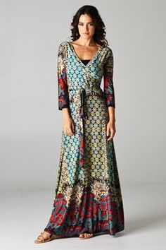 Love this Multi-Color Maxi from CatchBliss.Com! I need a little color in my winter wardrobe! #style #fashion