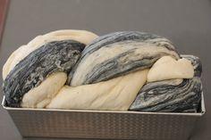 MOTOism: Baking with Charcoal Powder - Umami Mart bi-colored sandwich bread