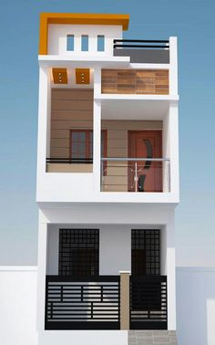 66 Beautiful Modern House Designs Ideas - Tips to Choosing Modern House Plans ? 66 Beautiful Modern House Designs Ideas - Tips to Choosing Modern House 2 Storey House Design, Duplex House Design, Duplex House Plans, House Front Design, Small House Design, Modern House Design, Narrow House Designs, Narrow House Plans, Modern Tiny House