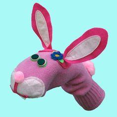 Bunny Rabbit Sock Puppet
