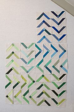 I'm really digging this Modern Solids WIP by Faith Jones of Fresh Lemons Quilts.