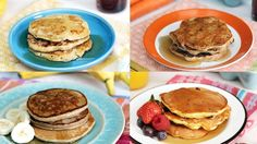 Recipe with video instructions: From carrot cake to blueberry, these inspired hotcakes are not only good for you, but tasty too. Ingredients: 1 medium ripe banana, 1 large egg, Canola oil, Butter, for serving, Syrup, for serving