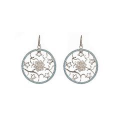 Gala by Daniela Swaebe Lotus Medallion Earrings in Sterling Silver ($286) ❤ liked on Polyvore featuring jewelry, earrings, fashion jewelryearrings, flower jewelry, sterling silver jewelry, medallion jewelry, sterling silver earrings and earring jewelry