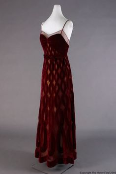 Jean Patou evening dress c1940   The Henry Ford Historic Costume Collection