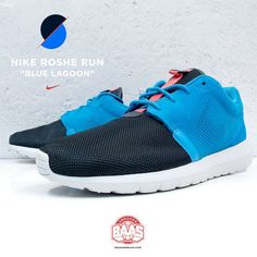 """#nike #rosherun #bluelagoon #sneakerbaas #baasbovenbaas  Nike Roshe Run """"Blue Lagoon"""" - Available online now, priced at €99,99  For more info about your order please send an e-mail to webshop #sneakerbaas.com!"""