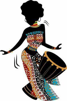 Designer Clothes, Shoes & Bags for Women Black Girl Art, Black Women Art, Arte Tribal, Tribal Art, African Beauty, African Women, Afrique Art, African Art Paintings, Black Art Pictures