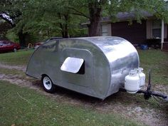 old teardrop trailers | 1946 Tourette Teardrop Trailer - Vintage Antique Camper in RVs ...