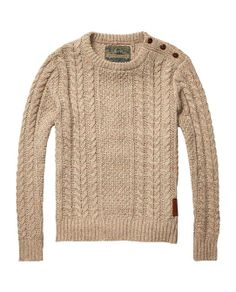 Cable Knitted Crew Neck Pull > Mens Clothing > Pullovers at Scotch & Soda