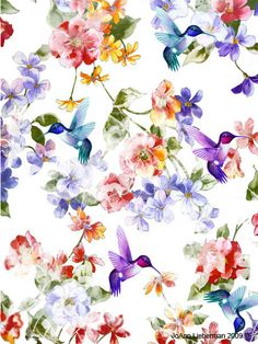 watercolor hummingbird wrapping paper