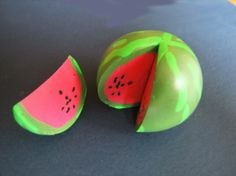 Watermelon from polymer clay