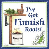 """This charming high quality tile magnetic decorative tile captures the essence of Finnish culture. It features the saying """"I've Got Finnish Roots """" Hard To Be Humble, Bavarian Recipes, Finnish Recipes, Finnish Language, Metal Hangers, Decorative Tile, Wall Plaques, Gifts For Family, How To Be Outgoing"""
