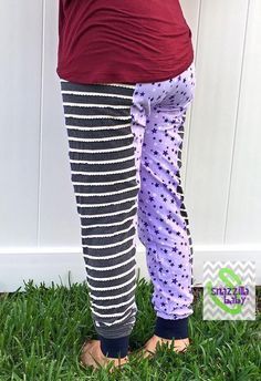 "The Women's version of the Jammin Joggers! So fun and funky, with knee, capri, and pant length options, as well as 3 inseam lengths. This is a low rise, fitted pant. Optional leg bands or standard hem and you can choose a fold over yoga style waistband! Awesome pockets that can hold a ton of stuff and you still look great! So comfortable, but perfect to wear out because they aren't your typical ""momiform"" pants. Make a pair for you and one to match for your kiddo…"