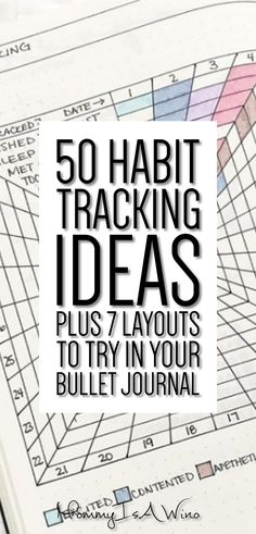 50 Habit Tracking Ideas Plus 7 Layouts To Try In Your Bullet Journal - Bullet Journal Layout Ideas - Bullet Journal Inspiration, BuJo Inspiration, Monthly Tracking