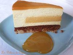 Entremets vanille caramel et praliné - Mariage de la vanille gourmande avec le caramel et le praliné feuilleté craquant et fondant