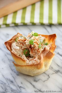 Chicken Salad Wonton Cups - Eat. Drink. Love.