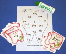 dental health Brush, Brush! sight word game & many other fun ideas!