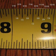 Wood Profit - Woodworking - how to read a measuring tape. Its sad I really can never remember what each mark is for! :) Discover How You Can Start A Woodworking Business From Home Easily in 7 Days With NO Capital Needed! Do It Yourself Furniture, Do It Yourself Home, How To Measure Yourself, Wood Projects, Sewing Projects, Furniture Projects, Furniture Design, Plywood Furniture, Furniture Plans