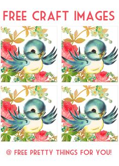 Images: Vintage Bluebird Craft Images - Free Pretty Things For You