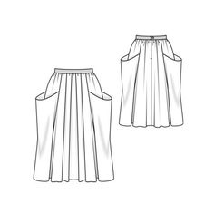 Long Skirt with wide pockets. Burda Style