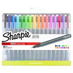 Sharpie Art Pens with Case, 16ct - Multicolor,