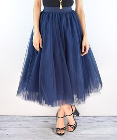 Look at this éloges Navy Tulle Skirt on #zulily today!