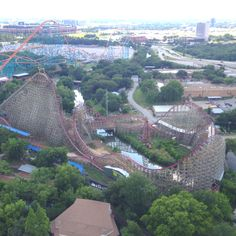 new texas giant. Moving To Texas, Texas Things, Water Parks, Fort Worth Texas, Six Flags, Roller Coasters, Mission Accomplished, Wooden Coasters, Amusement Parks