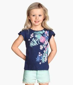 H&M Top with Butterfly Sleeves $5.95