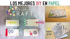 Los mejores DIY en papel, scrapbooking, cuaderno, cartera, etiquetas, washi tape