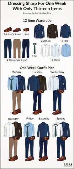 mywebroom blog realmenrealstyle male fashion 13 item wardrobe style infographic