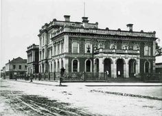 The Government Buildings on St John St,Launceston,Tasmania in 1867.