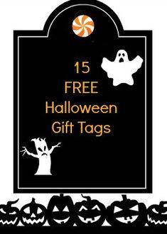 15+ Free #Halloween #Gift #Tags!  #Sewlicioushomedecor.com