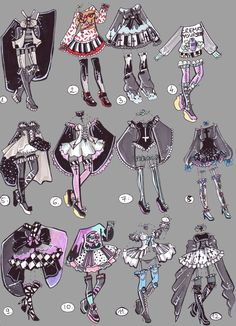 CLOSED-GothPastel Outfits by Guppie-Adopts on DeviantArt