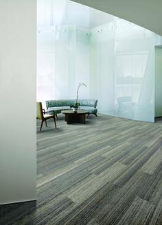 Interface Carpet tiles - environmentally friendly - cool color textures