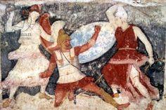 ancient-rome / Beginnings Of Rome Ancient Rome, Ancient Greece, Ancient Art, Ancient History, Fresco, Tempera, Greek Soldier, Minoan, Greek Art