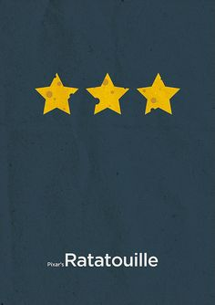 Ratatouille (2007) ~ Minimal Movie Poster by Boris Lechaftois ~ Pixar Series