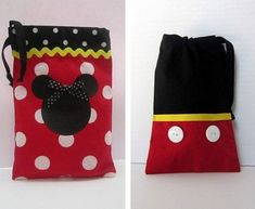 13 Minnie Mouse and 26 Mickey Mouse Fabric Party Favor Bags Mickey Mouse Fabric, Mickey E Minnie Mouse, Fiesta Mickey Mouse, Mickey Mouse Parties, Mickey Party, Mickey Mouse Clubhouse, Disney Mickey, Disney Diy, Disney Crafts
