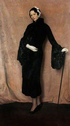 • SIR HERBERT JAMES GUNN : 1893 - 1964 : Scottish • 'My wife' : c.1933 : oil