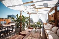 Outdoor Restaurant Design, Terrace Restaurant, Terrace Cafe, Rooftop Decor, Rooftop Patio, Cafe Design, House Design, Terrace Garden Design, Cafe Concept