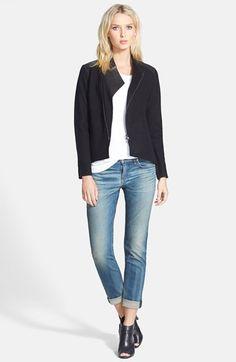 Eileen Fisher Merino Jacket, Top & rag & bone/JEAN Boyfriend Jeans available at #Nordstrom