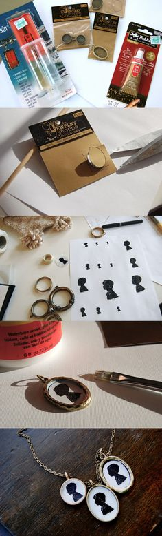 DIY! The Most Beautiful NECKLACE   Do It Yourself Ideas silhouette necklace